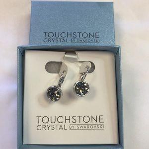 Swarovski black crystal earrings